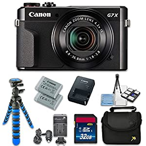 Canon PowerShot G7 X Mark II 20.1MP 4.2x Optical Zoom Digital Camera + Accessory Bundle - International Version