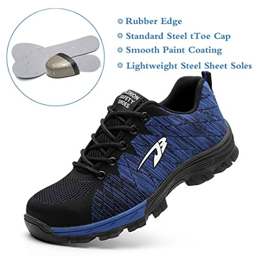 Tqgold® Sportive Uomo Sicurezza Antinfortunistica In Blu Scarpe S3 Lavoro Con Punta Di A Da Donna Acciaio Hwr0HqU