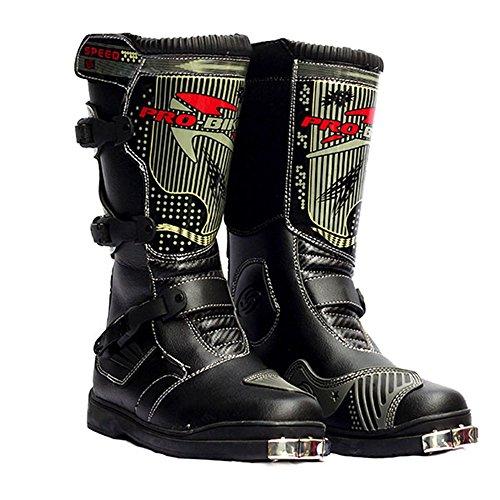 NEW Men's Motorcycle Boots Black Motocross MX Racing Black