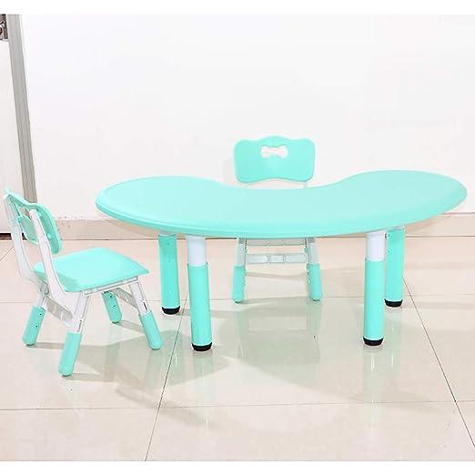 Juego de mesa y silla para niños, mesa de luna de plástico y silla ...