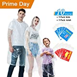 Ginmic Ponchos Family Pack - Rain Ponchos for Kids and...