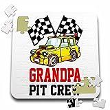 Carsten Reisinger - Illustrations - Pit Crew Grandpa Funny Car Race Theme Birthday Party Host - 10x10 Inch Puzzle (pzl_275707_2)