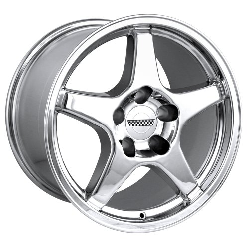 Detroit 841 ZR1 Corvette Chrome Replica Wheel (17x11