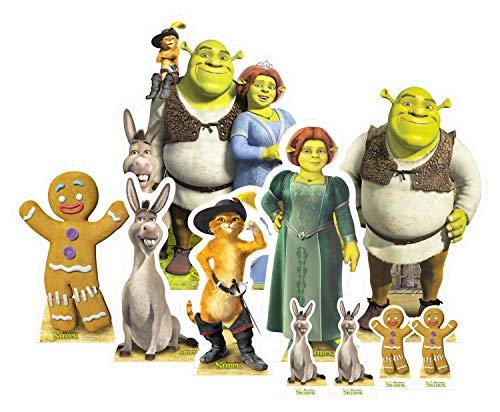 STAR CUTOUTS TT004 Official DreamWorks Universal Shrek Party Decoration Table Top Pack, Multi Colour ()