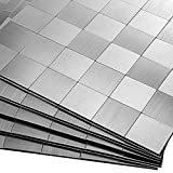 Decopus 2.0 Silver Peel and Stick Tiles for Kitchen