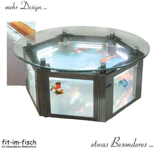Design Aquarium Tisch 185 Liter Ø 110 Cm: Amazon.de: Haustier