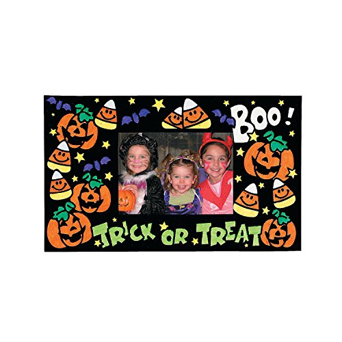 (Color Your Own Fuzzy Halloween Picture Frame Magnets)