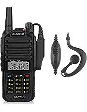 BaoFeng GT-3WP Walkie Talkie Doppia Banda Dual-Band VHF&UHF, Radiotrasmittente Bidirezionale, Impermeabile e Resistente alla Polvere IP67, Nero