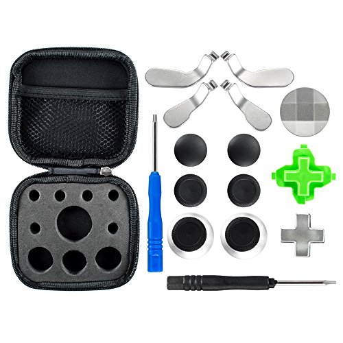 eXtremeRate Metal Magnetic 3 in 1 D-pads Thumbsticks Joysticks Paddles Hair Trigger Locks T8H Cross Screwdriver Repair Replacement Parts Kits for Xbox One Xbox One Elite Xbox One S Controller by eXtremeRate