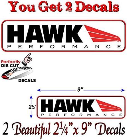 "2 of 8/"" Hawk brakes car truck racing vinyl bumper window sticker decal die cut"
