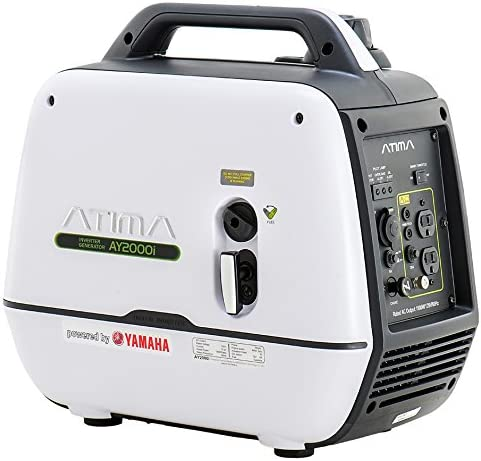 Super Quiet Small Camping Generator: Atima Inverter Generator 2000 watts, AY2000i Powered by Yamaha Engine