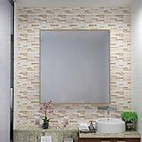 Verona Beige Linear Mosaic Composite Vinyl Wall Tile-HUE DECORATION (50-Pack)