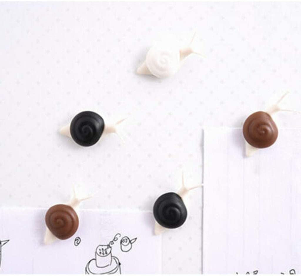 Flurries ???? 5PCS Portable Snail Fridge Magnets Set - Cute Animal Refrigerator Sticker - Realistic 3D Simulation Message Buckle Magnetic Paste - Home Decor Kids Toy DIY Souvenir Gift (Black)