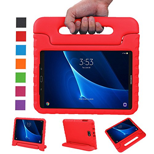 NEWSTYLE Samsung Galaxy Tab A 10.1 Kids Case - Shockproof Light Weight Protection Handle Stand Case for Samsung Galaxy Tab A 10.1 Inch (SM-T580/T585) Tablet 2016 Release (Red) Not Fit Other Models (3 Galaxy Tab Kids)