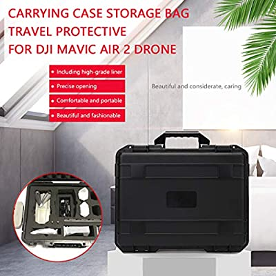 Wenjuan Storage Bag for DJI Mavic Air 2 Drone ,Hardshell Carrying Case Waterproof Storage Case Travel Outdoor Protective Suitcase for DJI Mavic Air 2 & Smart Controller: Toys & Games