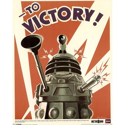 Doctor Who Dalek Large Poster 24x36 TO VICTORY WAR poster by Unknown