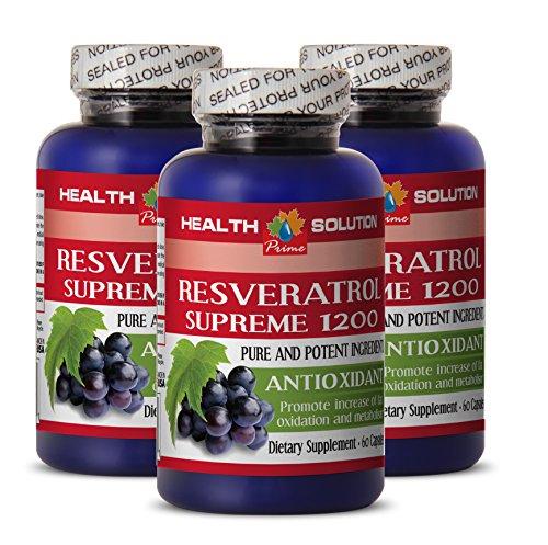 Resveratrol capsules RESVERATROL SUPREME results product image