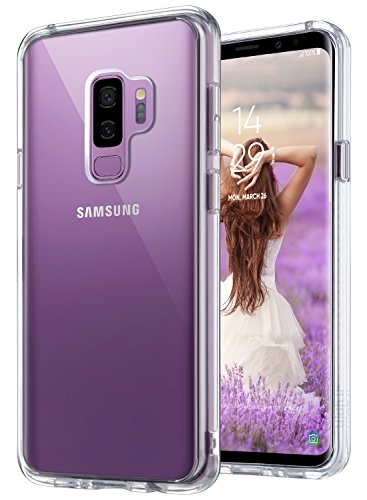 ULAK Galaxy S9 Plus case, Clear Slim Scratch Resistant Protective Case Shock Absorption Flexible TPU Bumper Hard PC Transparent Back Panel for Samsung Galaxy S9+ Plus, Crystal Clear Review