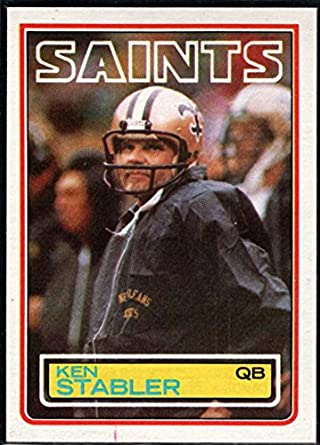 size 40 1d0c9 7f9fd Amazon.com: Football NFL 1983 Topps #118 Ken Stabler Saints ...
