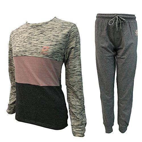nuova homewear lungo art pigiama caldo LP4001 ecrù donna LOTTO cotone collezione ngYSPSwqAW