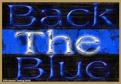 Back la azul delgada línea azul Policía Cop nevera Imán de frigorífico 3,5
