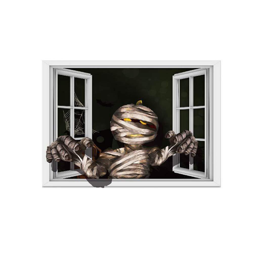 Kineca Muro de Bricolaje de Halloween 3D Pegatina Momia Pegatinas de Pared Decoraci/ón Scary Ghost Ventana Impresiones Arte Mural Decoraci/ón