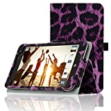 ACdream AT&T ASUS MeMO Pad 7 LTE Protective Case [with Auto Wake Sleep Feature] - Premium PU Leather Smart Cover Case for AT&T ASUS MeMo Pad 7 LTE GoPhone Prepaid Tablet ME375CL, Purple-Leopard