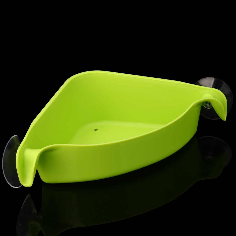 AGUIguo Home Bathroom Corner Shelf Suction Rack Organizer Cup Storage Shower Wall Basket (Green) by AGUIguo bathroom products (Image #3)