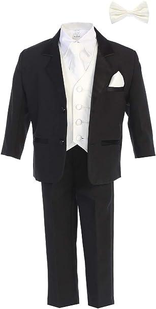 Children BURGUNDY SATIN VEST TIE Boy/'s Suit Tuxedo Sz 2T 3T 4T 5 6 7 8 10 12 14