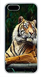 iPhone 5 5S Case Siberian Tiger PC Custom iPhone 5 5S Case Cover White