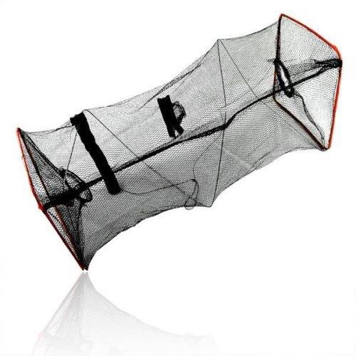 Relefree® Crab Fish Crawdad Lobster Shrimp Minnow Fishing Bait Tackle Cast Dip Net Mesh Hoop Cage Trap Foldable