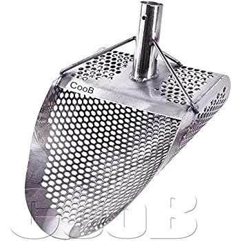 CooB Sand Scoop Small Shovel Stainless Steel Hunting Detector Tool (Hexahedron -7)