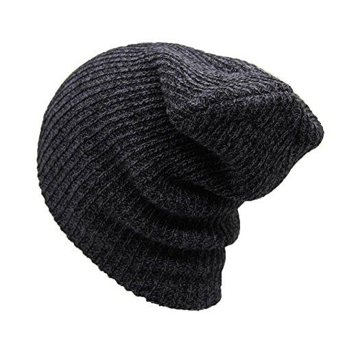 Beanie Knit Skull Daily Winter Hat Warm For Men Women Ski Hat - Pull Cuffed