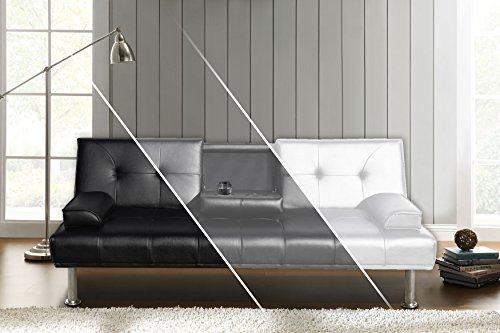 DRULINE Sofa Sofa Sofa Dubai Schlafsofa Klappsofa Kunstleder Couch Schlafcouch Klappcouch Garnitur (Anthrazit) 44acdd