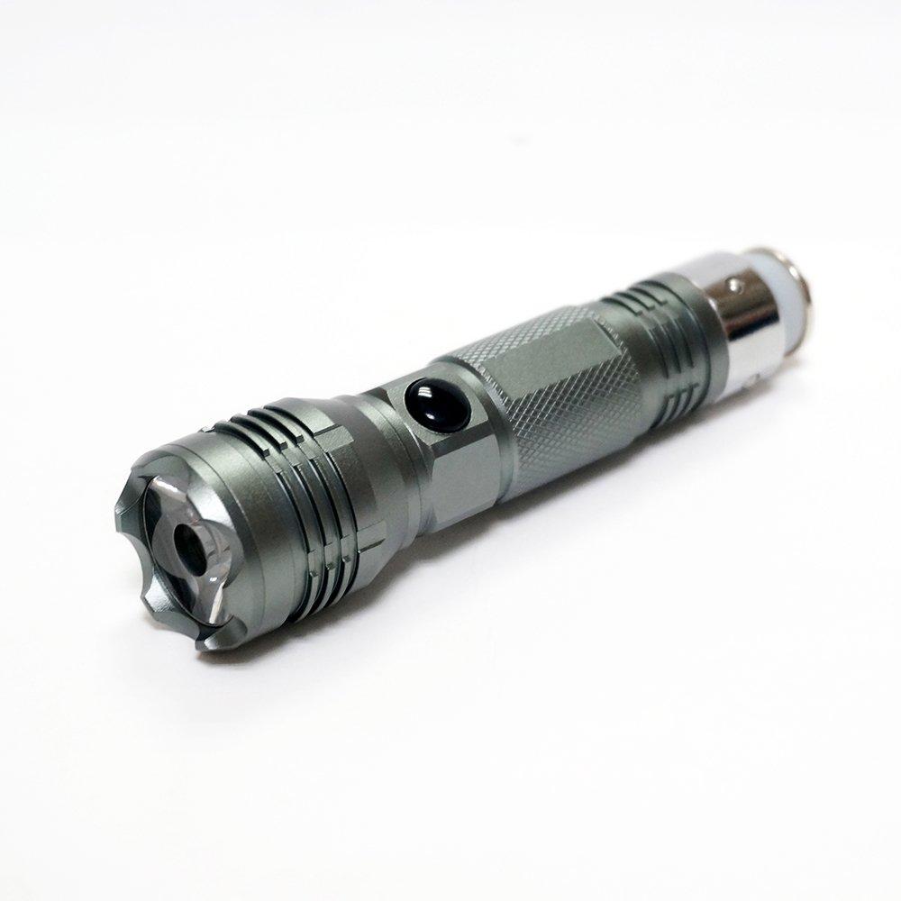 KENO Linterna LED de 300 LM Auto Recargable en Todos los Enchufes de Vehículos 12-24V y Puede Romper el Vidio del Coche con Bisel Frontal