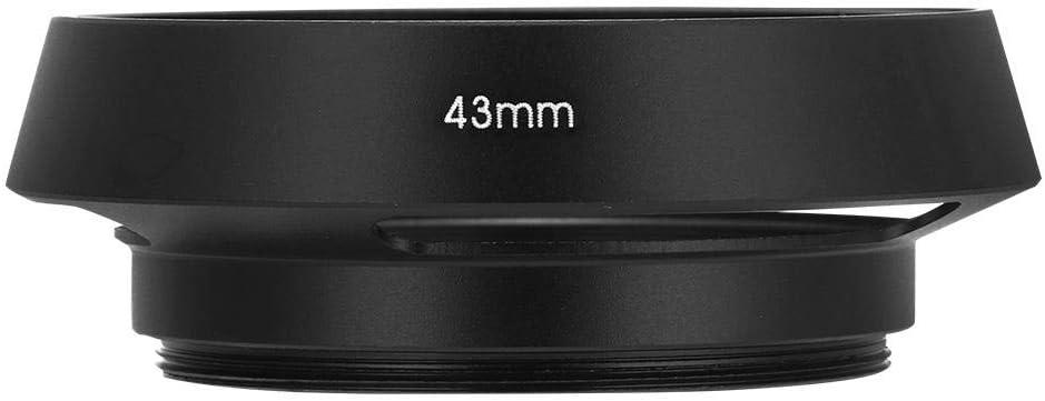43mm Pomya Lens Hood Better Protection to The Camera with Matte Paint Universal Aluminium Alloy Hollow Camera Lens Hood Sunshade Cover Protector