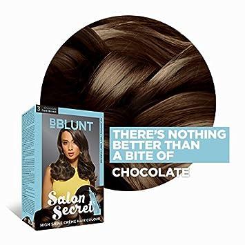 ba284e6850f Amazon.com   BBLUNT Salon Secret High Shine Creme Hair Colour Chocolate  Dark Brown 3   Beauty