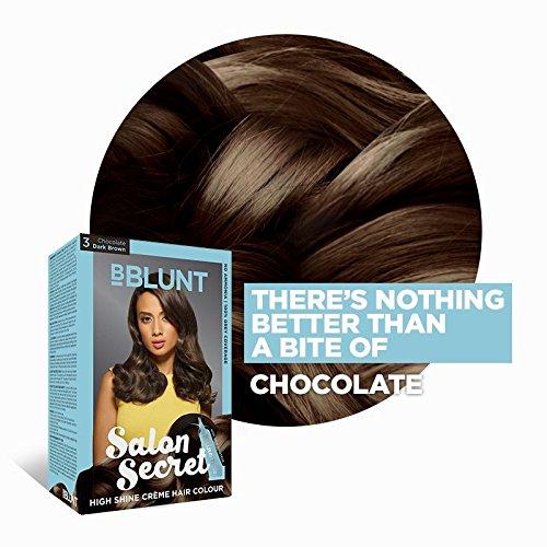 BBLUNT Salon Secret High Shine Creme Hair Colour Chocolate Dark Brown 3