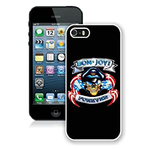 New Unique And Popular iPhone 5S Case Designed With bon jovi 02 White iPhone 5S Cover