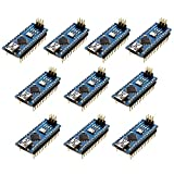 Optimus Electric 10pcs Nano V3.0 Development Board Module with ATMEGA328P Microcontroller and CH340 Chip, Arduino Compatible 16MHz, 5V from