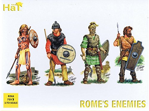 HaT 8192 Toy Soldiers Roman War Rome's Enemies 72 Figures 1/72 Scale Unpainted Plastic ()