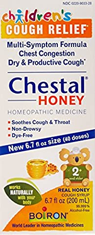 Boiron Children's Chestal Cough Syrup, Honey, 6.7 Ounce, Homeopathic Medicine for Cough and Chest Congestion