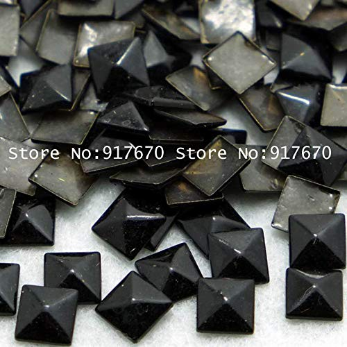 Garment Rivet - Wholesale 8mm Black Pyramid Rivet 10,000pcs/bag Spike Rivets and Studs Punk Leathercraft DIY
