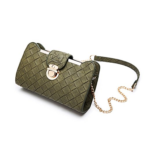 Small Mini Shoulder Simple of Wild Version Oblique Green Korean Color Package Handbags Backpack Black Square The Chain Ladies Bag RSw8n7q