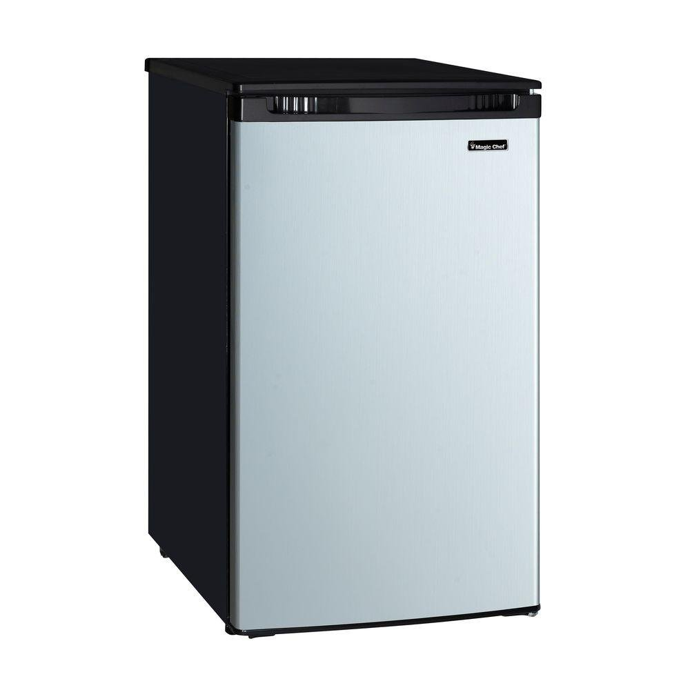 4.4 cu. ft. Mini Refrigerator with Freezerless Design in Stainless Magic Chef Feezer Wiring Diagram on