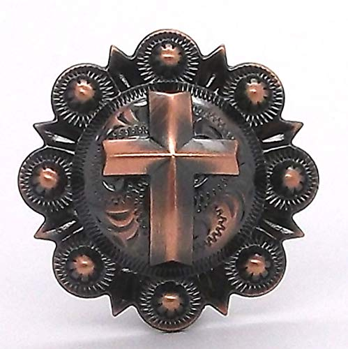 OutletBestSelling Cross Berry Concho Antique Copper All Metal 1-1/4