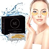Revitalizing Eye Treatment Mask – Reduce Dark Circles Under Eyes | 24K Gold Pads for Wrinkles & Puffy Eyes | Natural Anti Aging Hydrating Collagen Solution for Men and Women | 20 Pair Per Package