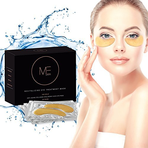 Price comparison product image Revitalizing Eye Treatment Mask - Reduce Dark Circles Under Eyes | 24K Gold Pads for Wrinkles & Puffy Eyes | Natural Anti Aging Hydrating Collagen Solution for Men and Women | 20 Pair Per Package