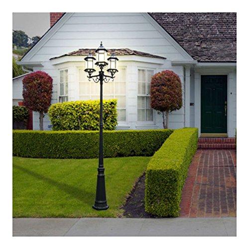 3 Head Outdoor Post Light Garden Driveway Lamp Post Pole Mount Lantern Portfolio