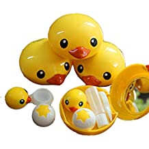 Special Cute YELLOW Duck Contact Lenses Box Case/Holders Container Set